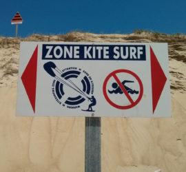 les zones de kite sur les spots de Saint Brévin, Pornichet, La Baule et Pont Mahe